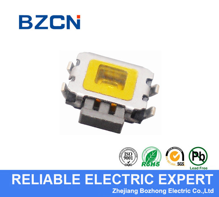 Side / Horizontal Press Right Angle Push Button , Right Angle SMD Tact Switch