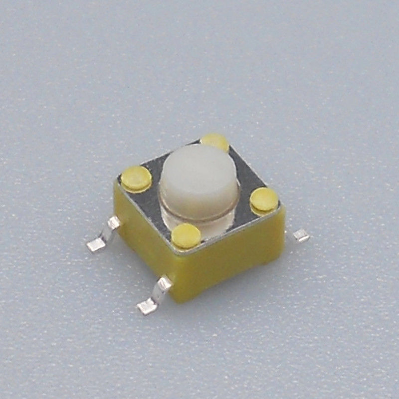 6 Mm X 6mm SMD Tactile Switch White Button Vertical And Right Angle Designs