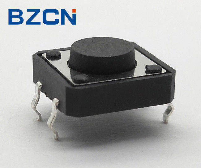 Black Push Button Normally Closed Tactile Switch , 12mm X 12mm Tactile Switch