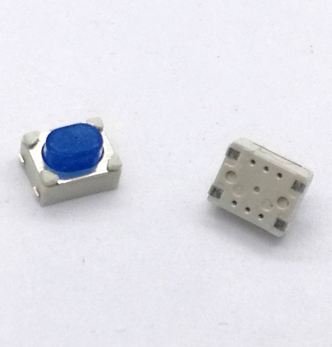 Tact switch with soft silicon stem used for auto remote cotrol SMD surface mount terminal 4 PINS with silver plate